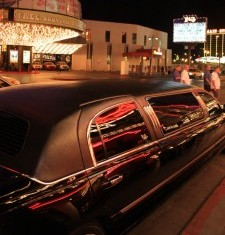 stretch limo parked infront of casino photo in connecticut